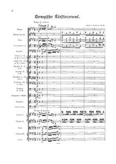 Карнавал норвежских художников, Op.14: Для оркестра by Юхан Свенсен