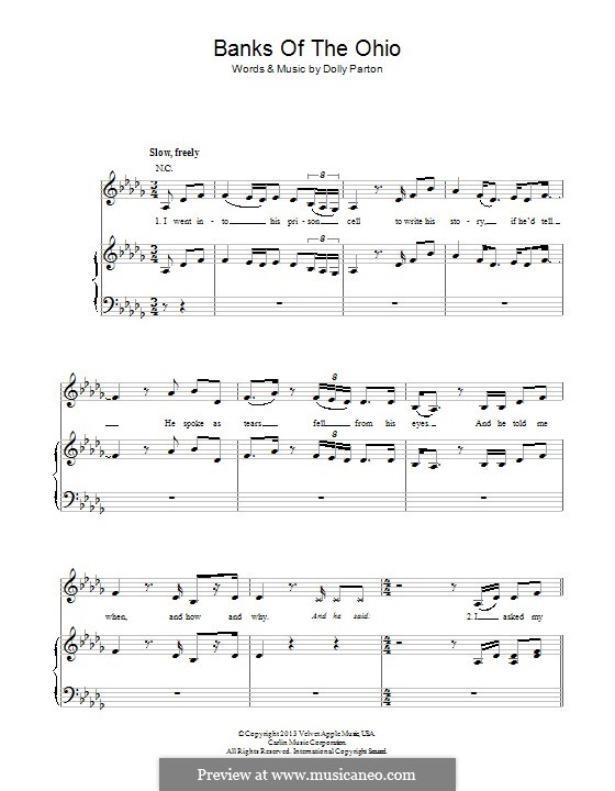 Banks of the Ohio: Для голоса и фортепиано (или гитары) by Dolly Parton