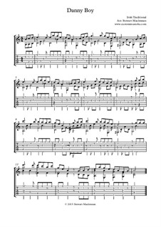 Danny Boy (Londonderry Air): Гитарная табулатура by folklore