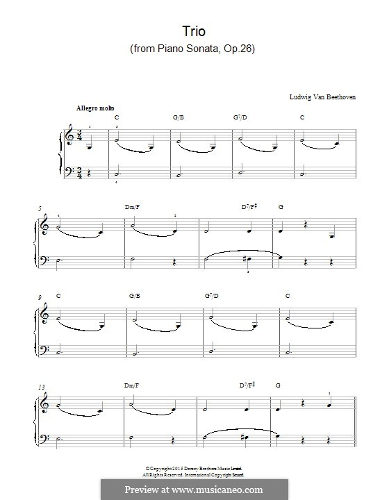 Соната для фортепиано No.12 ля-бемоль мажор, Op.26: Trio by Людвиг ван Бетховен
