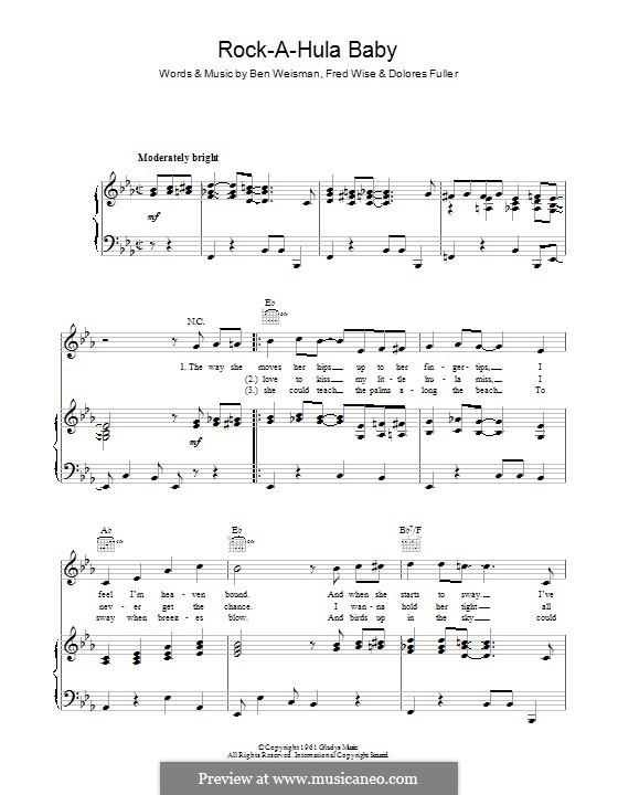 Rock-a-Hula Baby (Elvis Presley): Для голоса и фортепиано (или гитары) by Ben Weisman, Dolores Fuller, Fred Wise