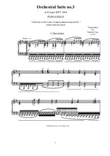 Ouverture: Аранжировка для фортепиано by Иоганн Себастьян Бах