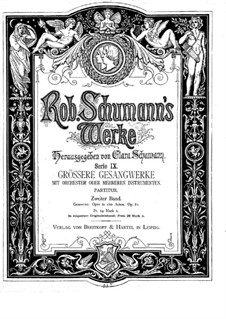 Геновева, Op.81: Партитура by Роберт Шуман