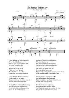 Больница святого Джеймса: Для гитары by folklore