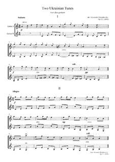 Два украинских наигрыша: Два украинских наигрыша, Op.15 by folklore