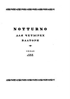 Notturno: Notturno by Николай Римский-Корсаков