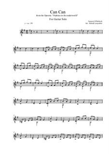 Канкан: Для гитары by Жак Оффенбах