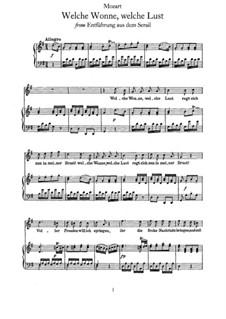 Welche Wonne, welche Lust: Для голоса и фортепиано by Вольфганг Амадей Моцарт