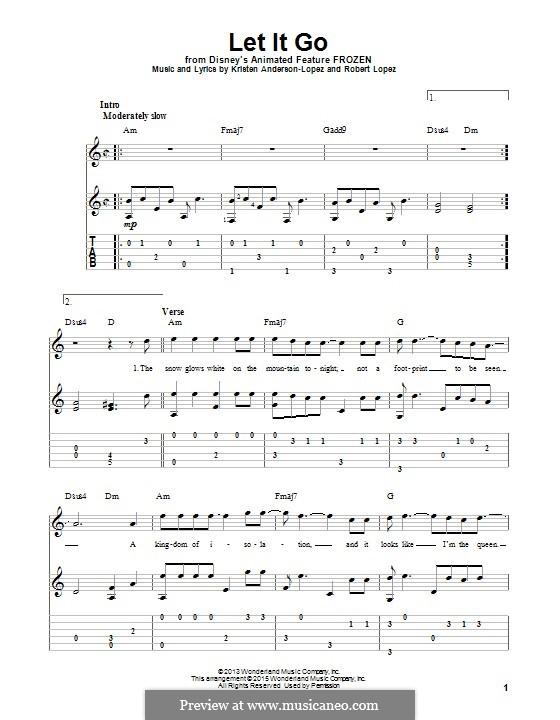Instrumental version: Гитарная табулатура by Robert Lopez, Kristen Anderson-Lopez