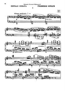 Соната для фортепиано No.1 си-бемоль минор, Op.74: Для одного исполнителя by Александр Глазунов