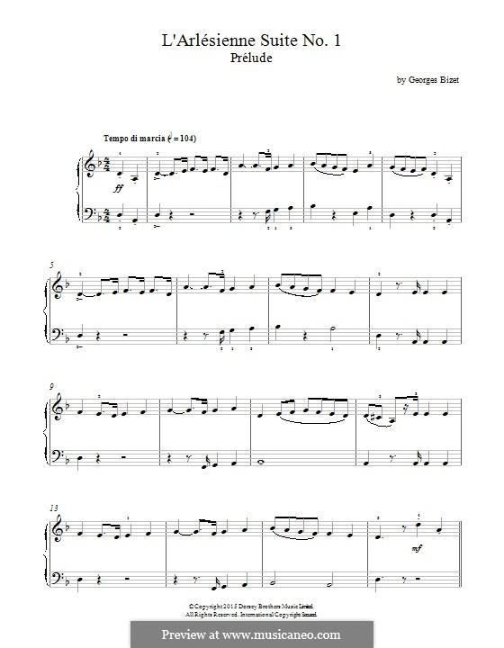 Сюита I: Prelude, for piano by Жорж Бизе