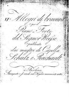 Шесть Аллегро для фортепиано, Op.1: Для одного исполнителя by Кристофер Эрнст Фридрих Вейсе