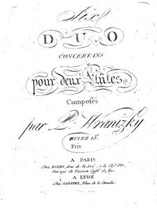 Шесть концертных дуэтов для двух флейт, Op.13: Шесть концертных дуэтов для двух флейт by Пауль Враницкий
