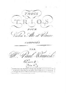 Три трио для струнных: Три трио для струнных by Пауль Враницкий