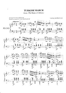 Турецкий марш: Для фортепиано by Людвиг ван Бетховен
