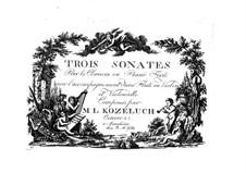 Три сонаты для клавесина, Op.41: Партии by Леопольд Кожелух
