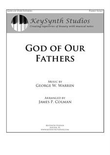 God of Our Fathers: Для фортепиано by Джордж Уильям Уоррен