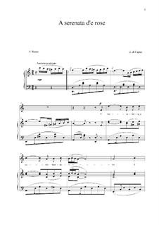 A serenata d'e rose: Для голоса и фортепиано (A minor) by Eduardo di Capua