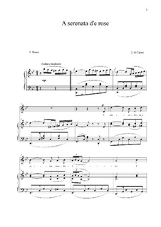 A serenata d'e rose: Для голоса и фортепиано (G minor) by Eduardo di Capua