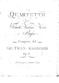 Квартет для флейты и струнных фа мажор, Op.17: Квартет для флейты и струнных фа мажор by Франц Кроммер