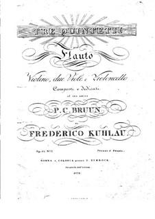 Три квинтета для флейты и струнных, Op.51: Три квинтета для флейты и струнных by Фридрих Кулау