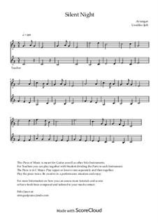 Тихая ночь (ноты для скачивания): For ensemble instruments by Франц Ксавьер Грубер