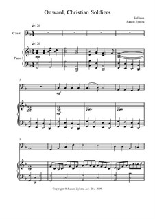 Onward, Christian Soldiers: Score for two performers (in C) by Артур Салливан