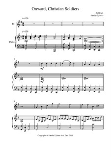 Onward, Christian Soldiers: Score for two performers (in B Flat) by Артур Салливан