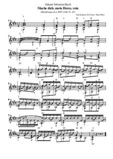 Часть II: No.65 Mache dich, mein Herze, rein, für Gitarre by Иоганн Себастьян Бах