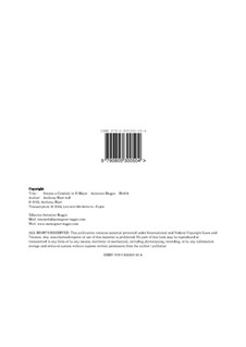 Sonata per Cembalo in D Major, Hr 104: Sonata per Cembalo in D Major by Antonino Reggio