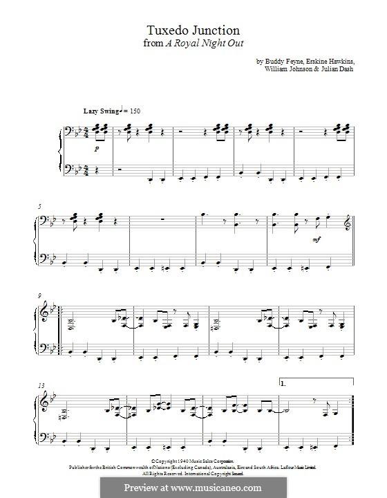 Tuxedo Junction: For piano (Paul Englishby) by Buddy Feyne, Erskine Hawkins, Julian Dash, William Johnson