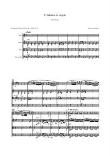 Итальянка в Алжире: Overture, for oboe, violin, viola and cello by Джоаккино Россини