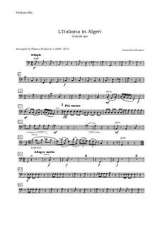 Итальянка в Алжире: Overture, for oboe, violin, viola and cello - cello part by Джоаккино Россини