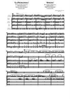Концерт для скрипки с оркестром No.1 ми мажор 'Весна', RV 269: Партитура by Антонио Вивальди