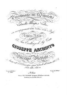 Дивертисмент для виолончели (или альта) и струнного квартета: Дивертисмент для виолончели (или альта) и струнного квартета by Винченцо Мериги