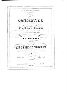 Концертино для гобоя, фагота и фортепиано, Op.40: Концертино для гобоя, фагота и фортепиано by Эрнст Метфессель