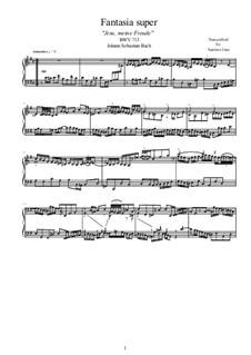 Хоральные прелюдии V (Кирнбергские): Jesu, meine Freude, for piano, BWV 713 by Иоганн Себастьян Бах