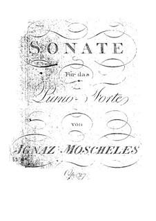 Фортепианная соната, Op.27: Для одного исполнителя by Игнац Мошелес