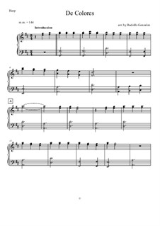 De Colores: For harp solo by folklore