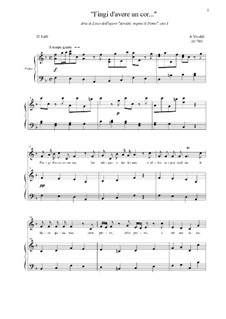 Arsilda regina di Ponto: Fingi d'avere un cor, atto I by Антонио Вивальди