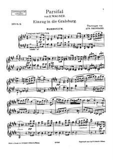 Entrance into the Castle of the Holy Grail: Для фисгармонии и фортепиано – партия фисгармонии by Рихард Вагнер