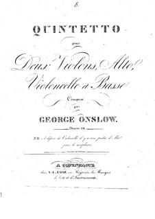 Струнный квинтет No.8 ре минор, Op.24: Партии by Жорж Онсло