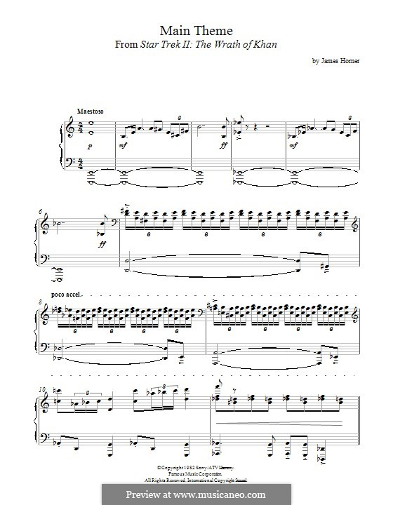 Star Trek II: The Wrath of Khan: Для фортепиано by James Horner