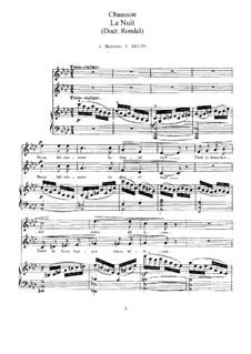 Два дуэта для голосов и фортепиано, Op.11: Два дуэта для голосов и фортепиано by Эрнест Шоссон