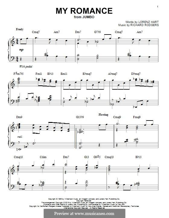 My Romance: Для фортепиано by Richard Rodgers
