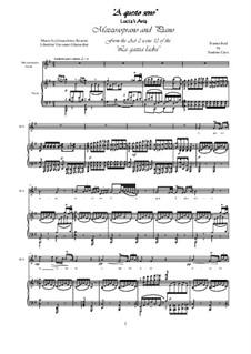 Сорока-воровка: A questo seno, for mezzo-soprano and piano by Джоаккино Россини