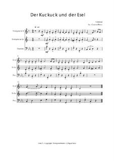 Der Kuckuck und der Esel: Trio Trompete, Trompete, Posaune, Op.03011 by folklore