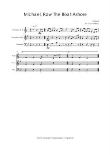 Michael Row the Boat Ashore: Trio Trompete, Trompete, Posaune, Op.030110 by folklore
