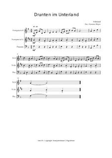 Drunten im Unterland: Trio Trompete, Trompete, Posaune, Op.030121 by folklore