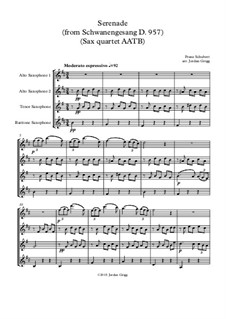 No.4 Серенада: For sax quartet AATB by Франц Шуберт